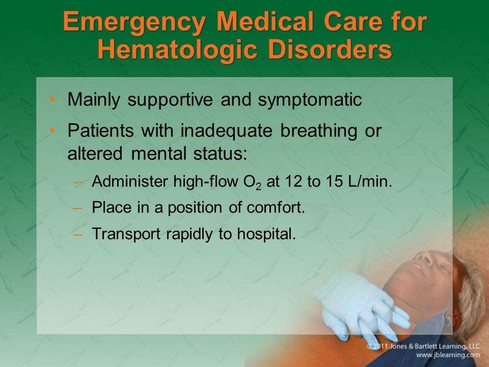 Emergency Medical Care for Hematologic Disorders