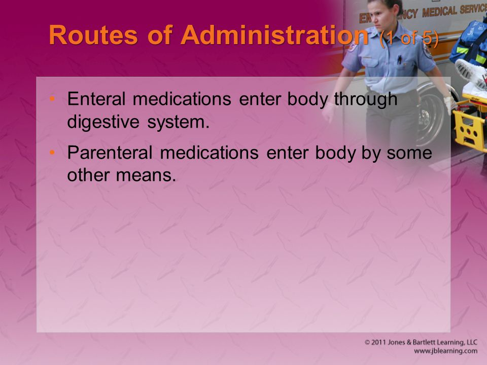 Routes of Administration (1 of 5)