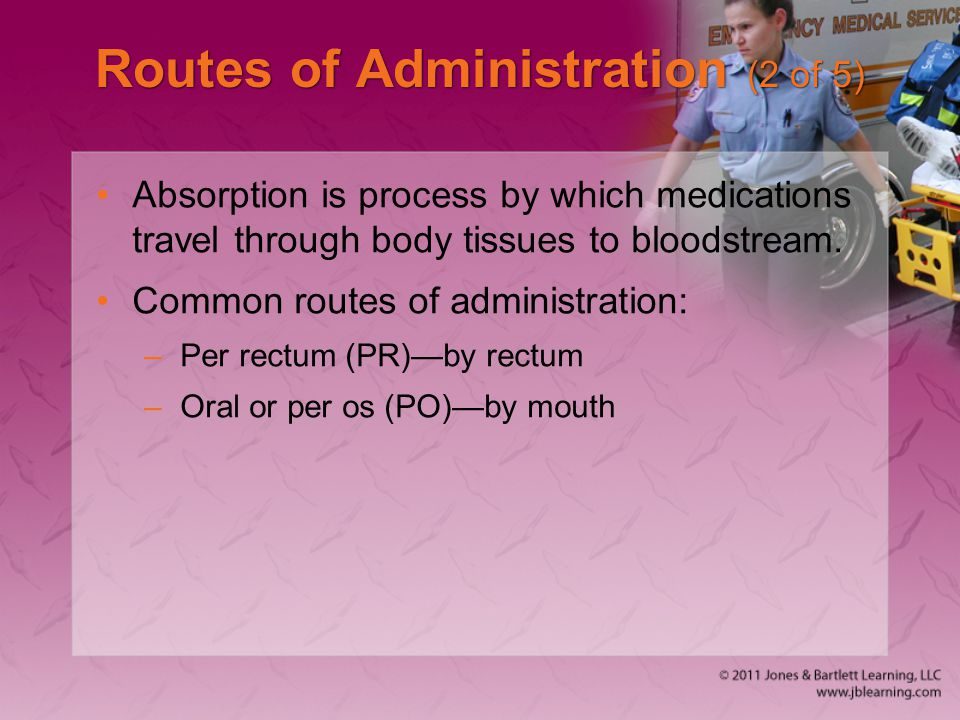 Routes of Administration (2 of 5)