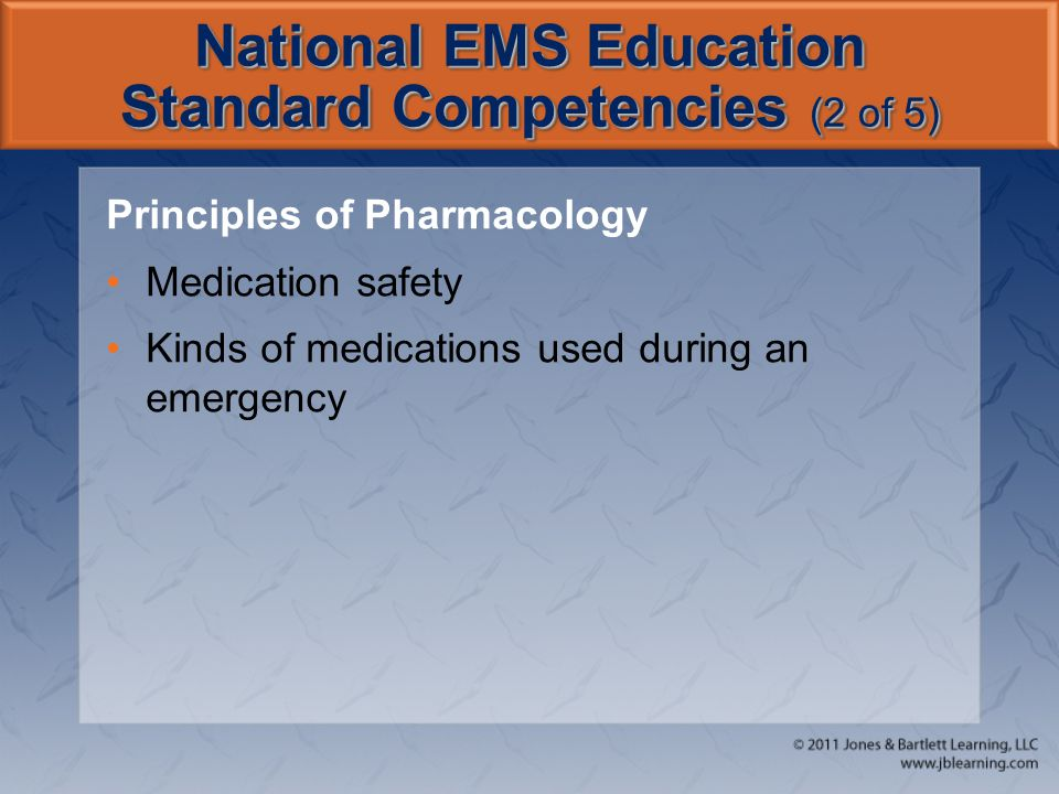 National EMS Education Standard Competencies (2 of 5)