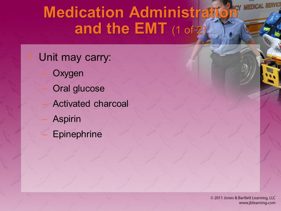 Medication Administration and the EMT (1 of 2)