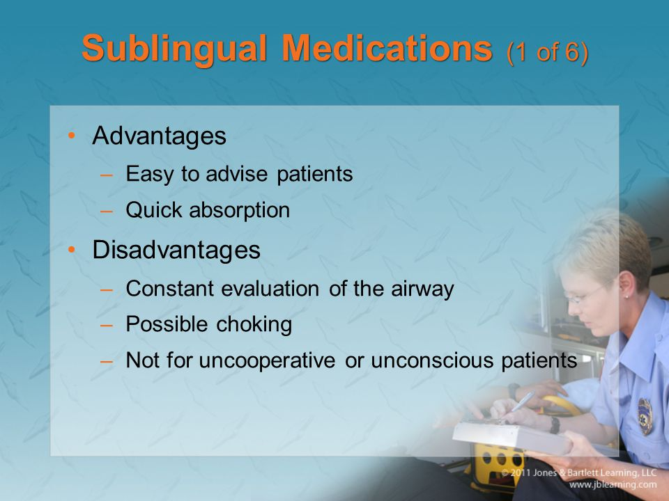 Sublingual Medications (1 of 6)