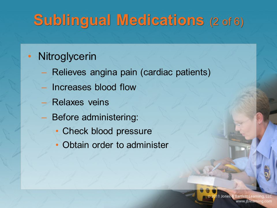 Sublingual Medications (2 of 6)