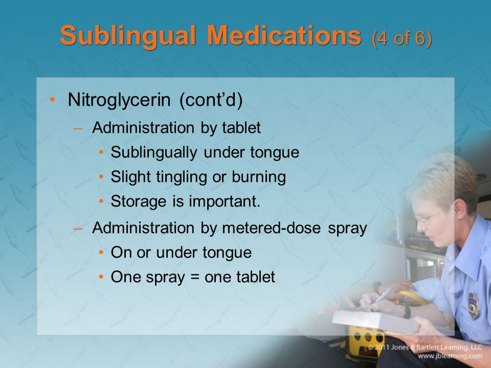 Sublingual Medications (4 of 6)