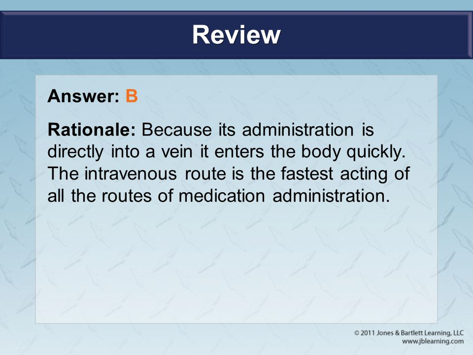 Review Answer: B.