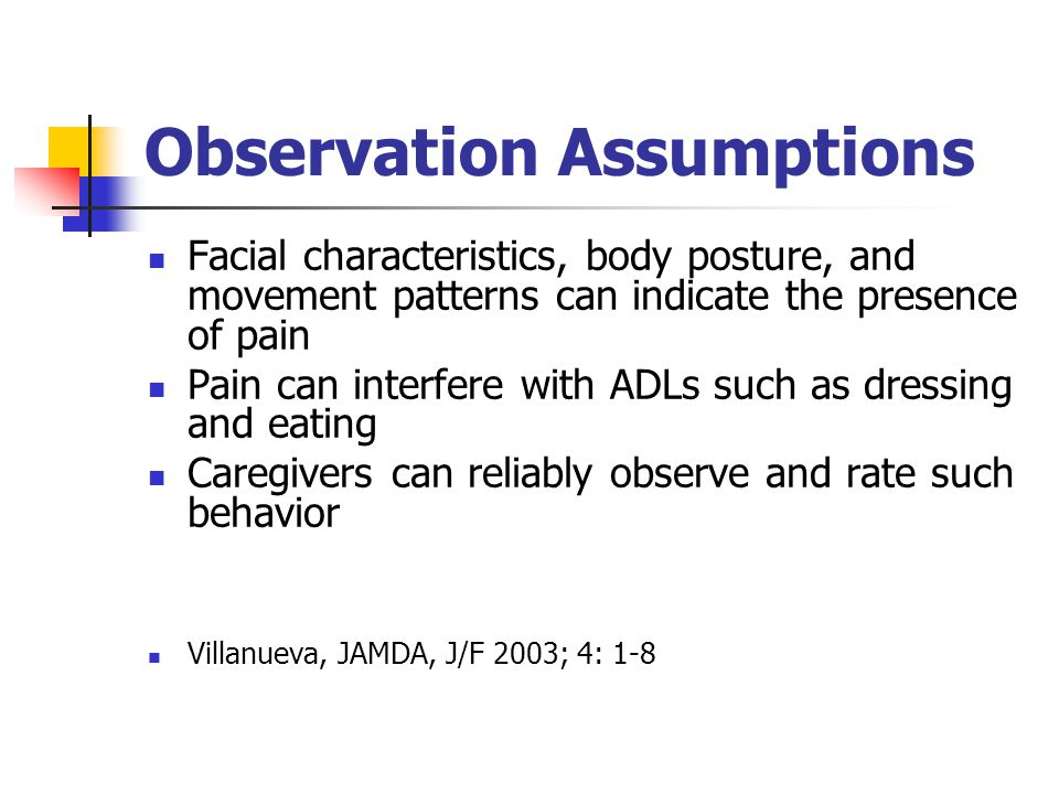 Observation Assumptions