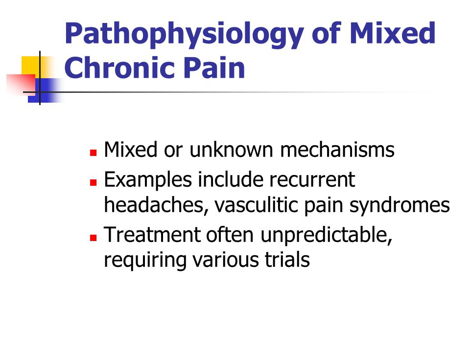 Pathophysiology of Mixed Chronic Pain