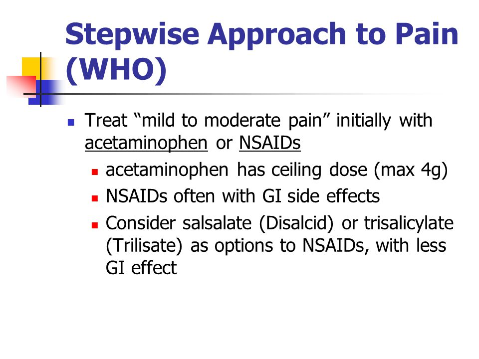 Stepwise Approach to Pain (WHO)