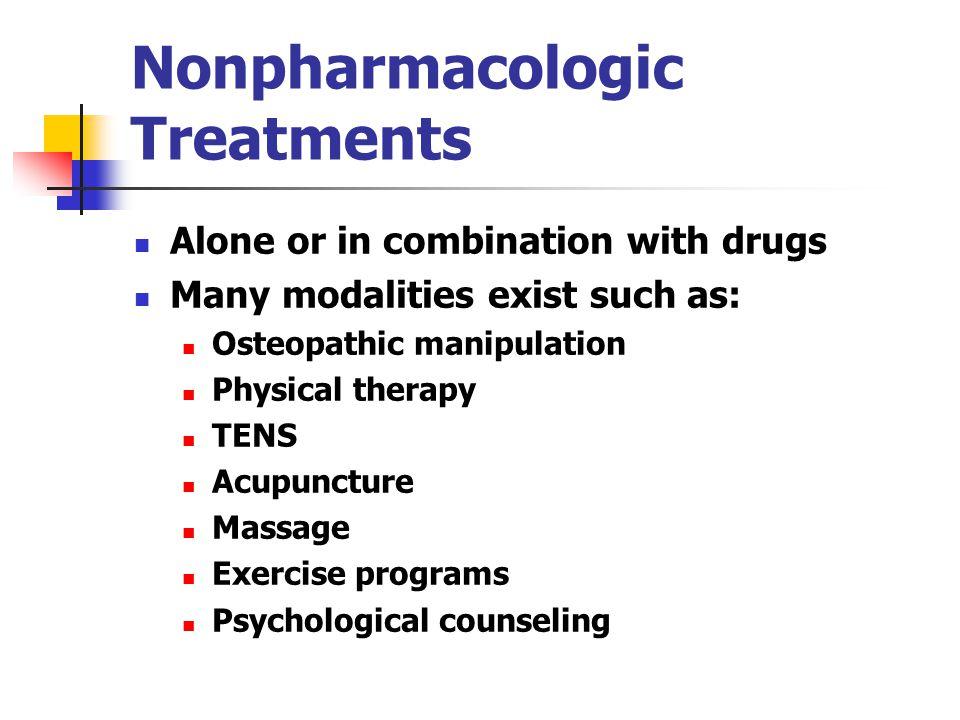 Nonpharmacologic Treatments