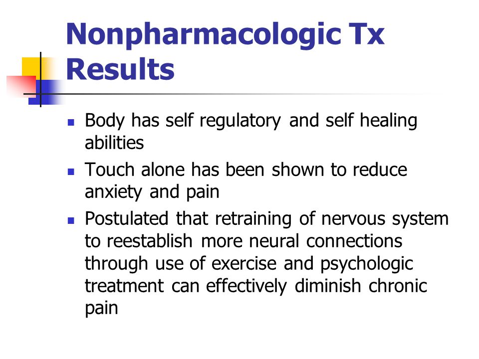 Nonpharmacologic Tx Results