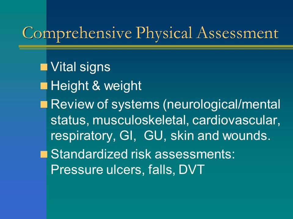 Comprehensive Physical Assessment