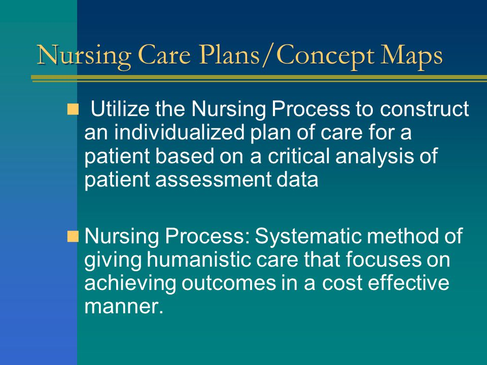 Nursing Care Plans/Concept Maps