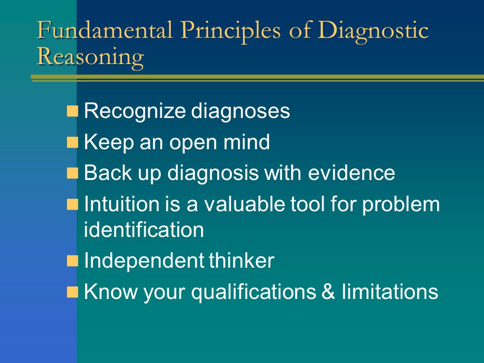 Fundamental Principles of Diagnostic Reasoning