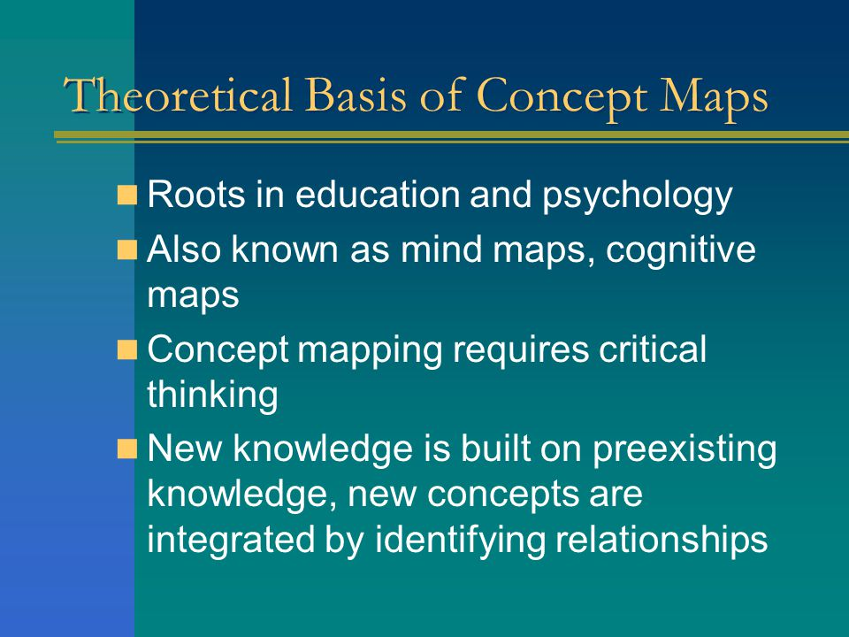 Theoretical Basis of Concept Maps