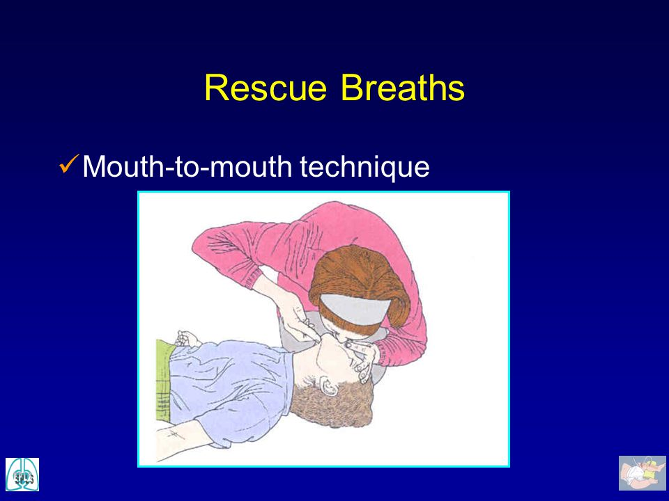 Rescue Breaths Mouth-to-mouth technique