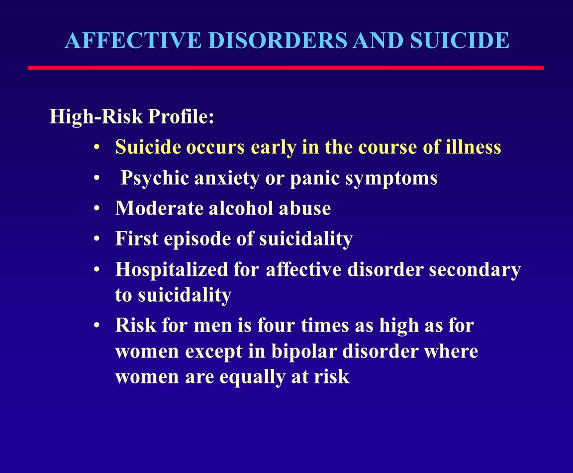 AFFECTIVE DISORDERS AND SUICIDE