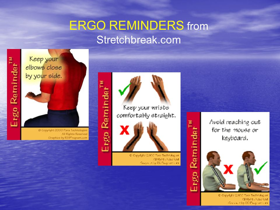 ERGO REMINDERS from Stretchbreak.com
