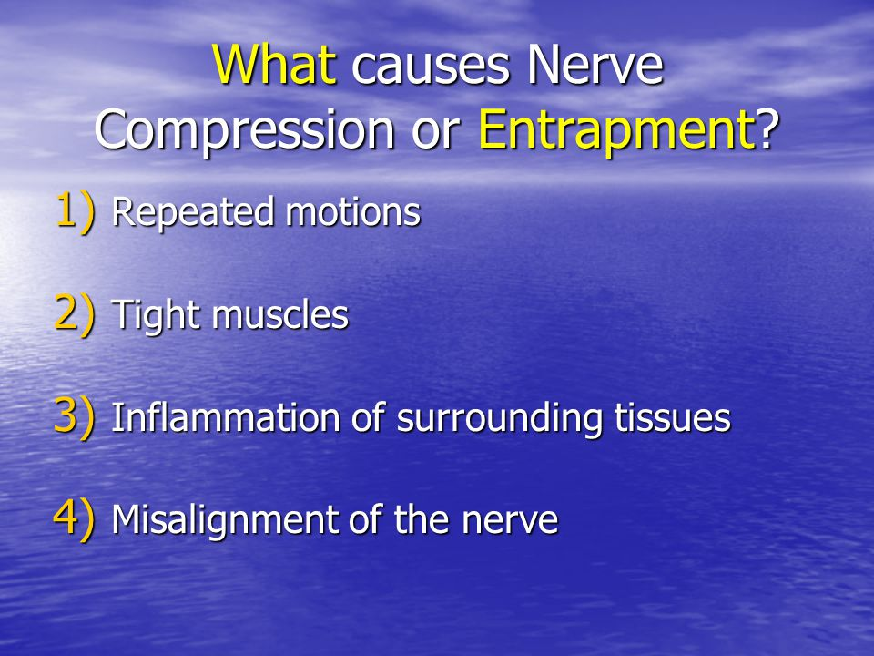 What causes Nerve Compression or Entrapment