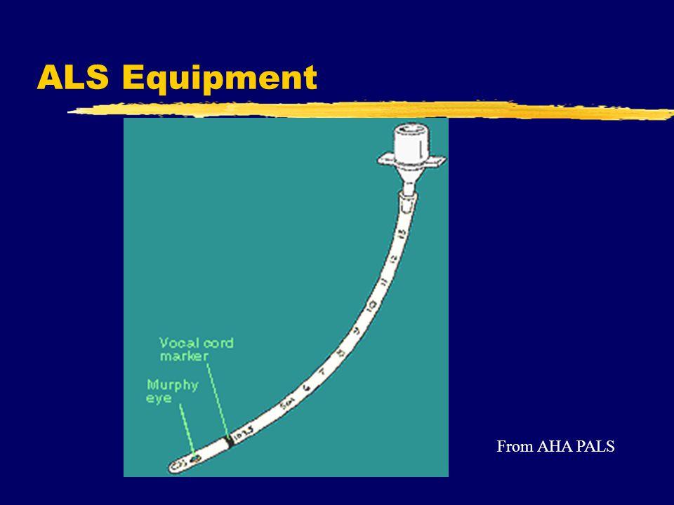 ALS Equipment From AHA PALS