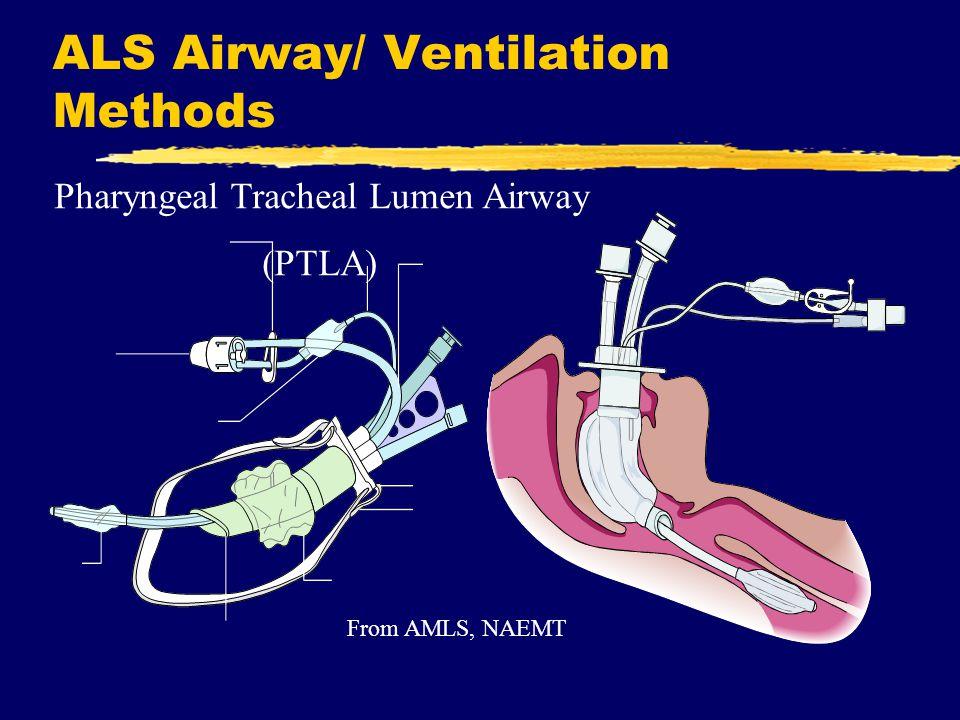 ALS Airway/ Ventilation Methods