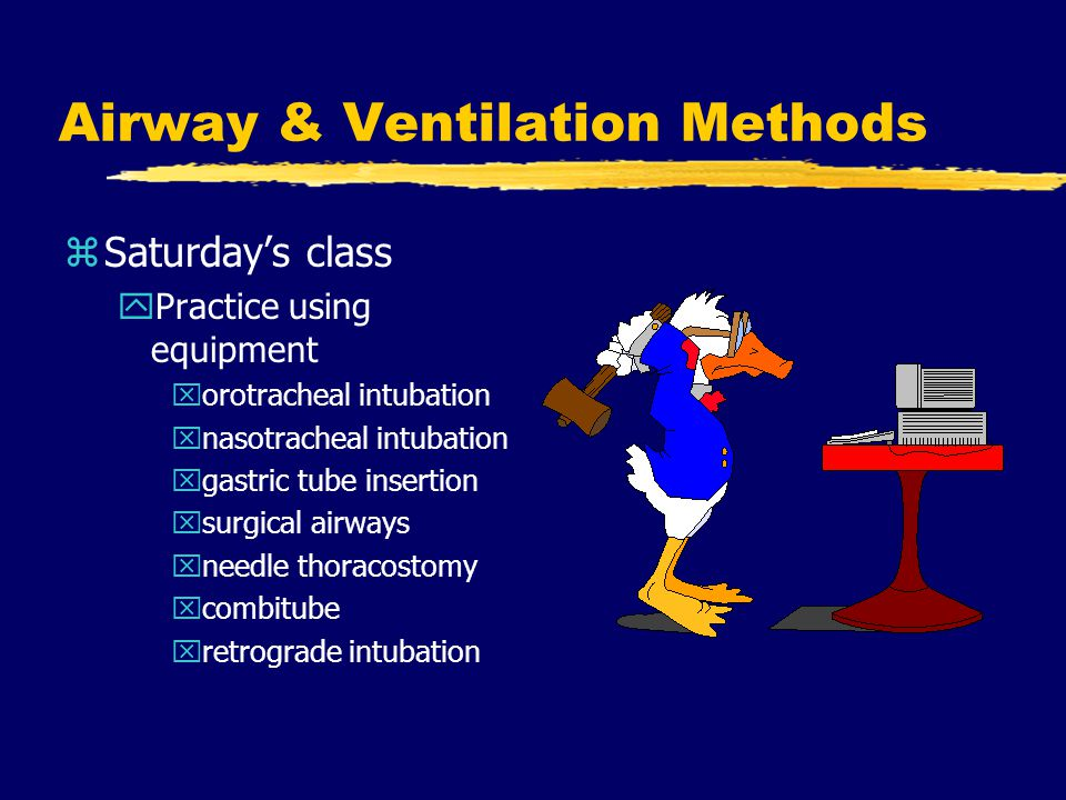 Airway & Ventilation Methods