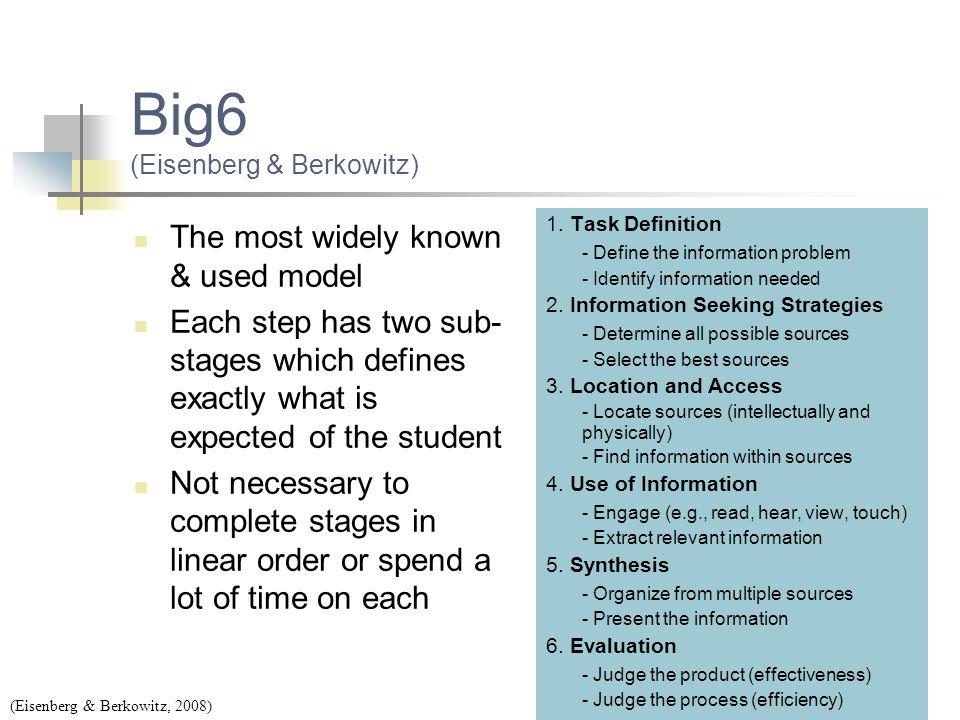 Big6 (Eisenberg & Berkowitz)