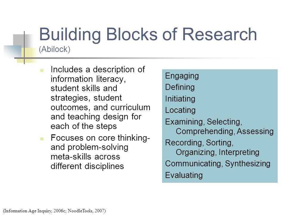 Building Blocks of Research (Abilock)