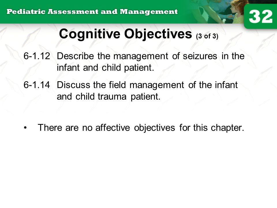 Cognitive Objectives (3 of 3)