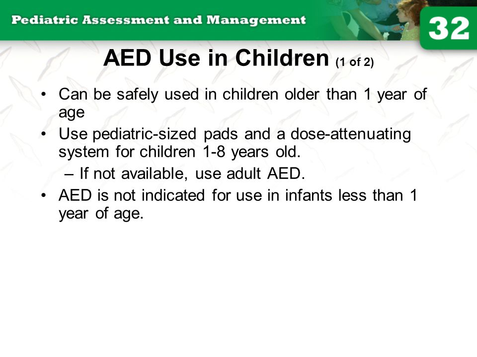 AED Use in Children (1 of 2)