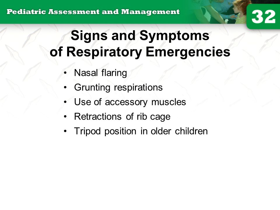 Signs and Symptoms of Respiratory Emergencies