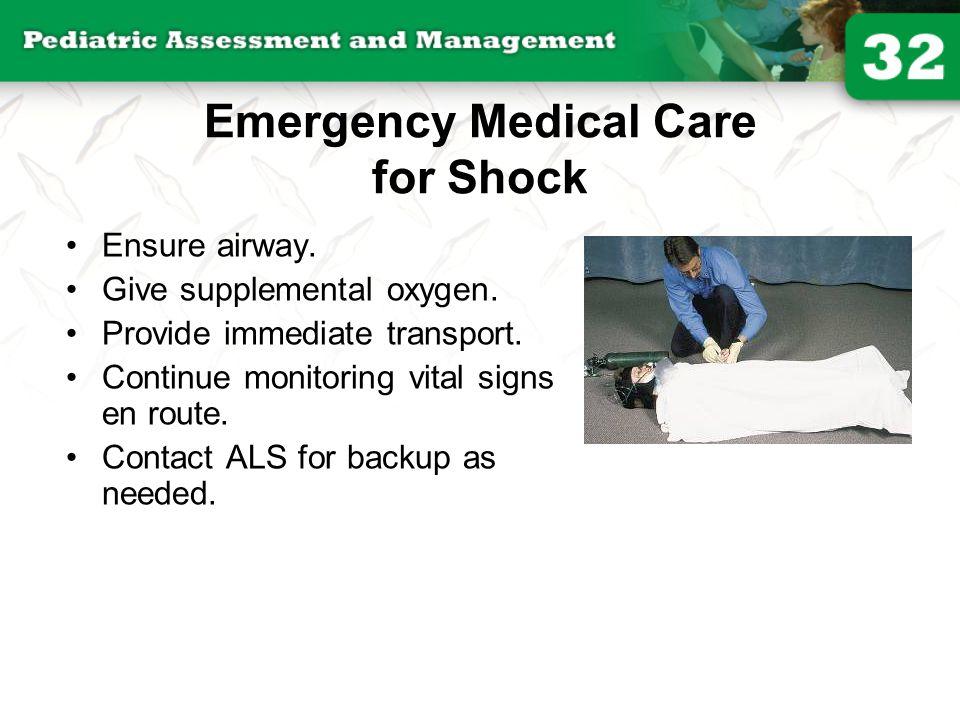 Emergency Medical Care for Shock