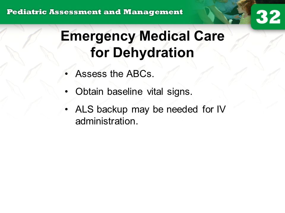 Emergency Medical Care for Dehydration