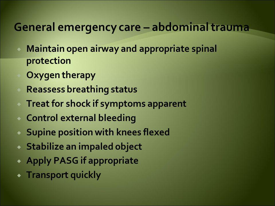 General emergency care – abdominal trauma