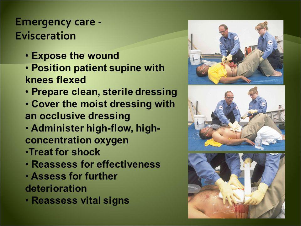Emergency care - Evisceration