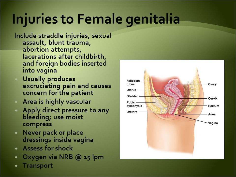 Injuries to Female genitalia