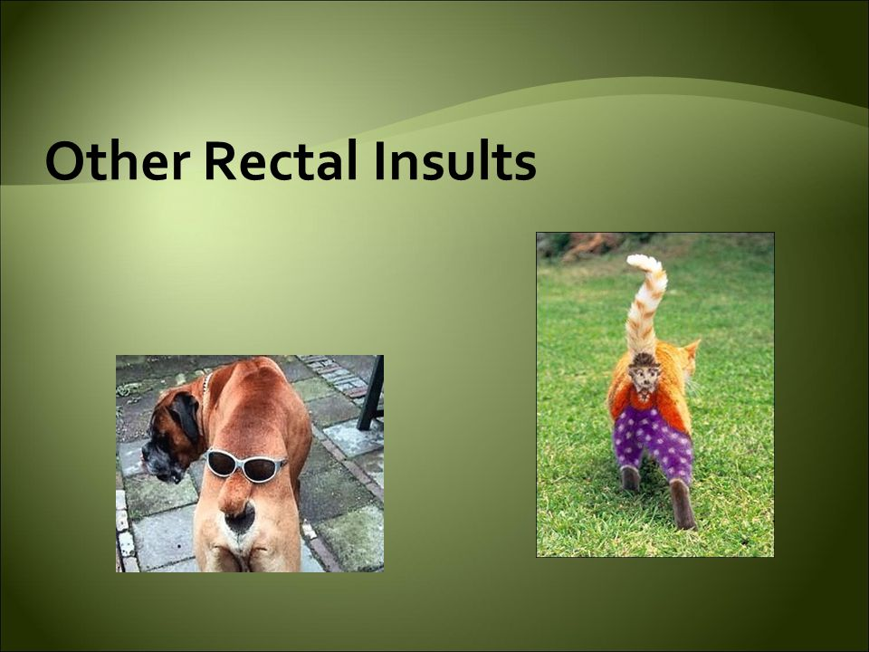 Other Rectal Insults