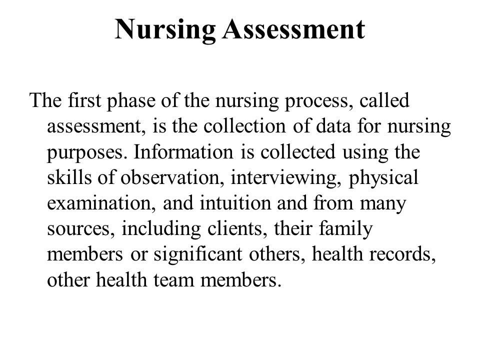 Nursing Assessment