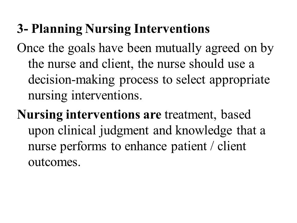 3- Planning Nursing Interventions