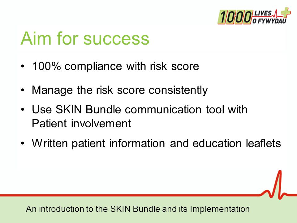 Aim for success 100% compliance with risk score