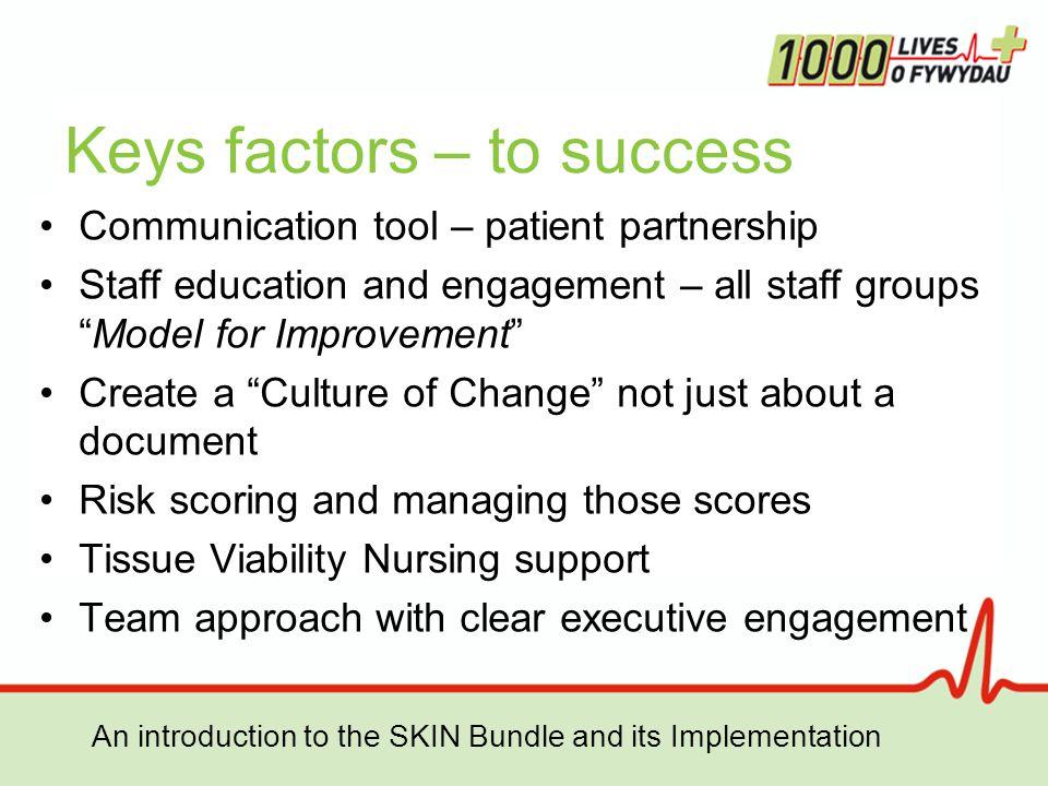 Keys factors – to success