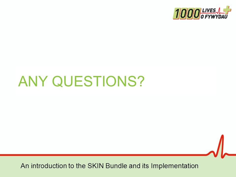 ANY QUESTIONS An introduction to the SKIN Bundle and its Implementation