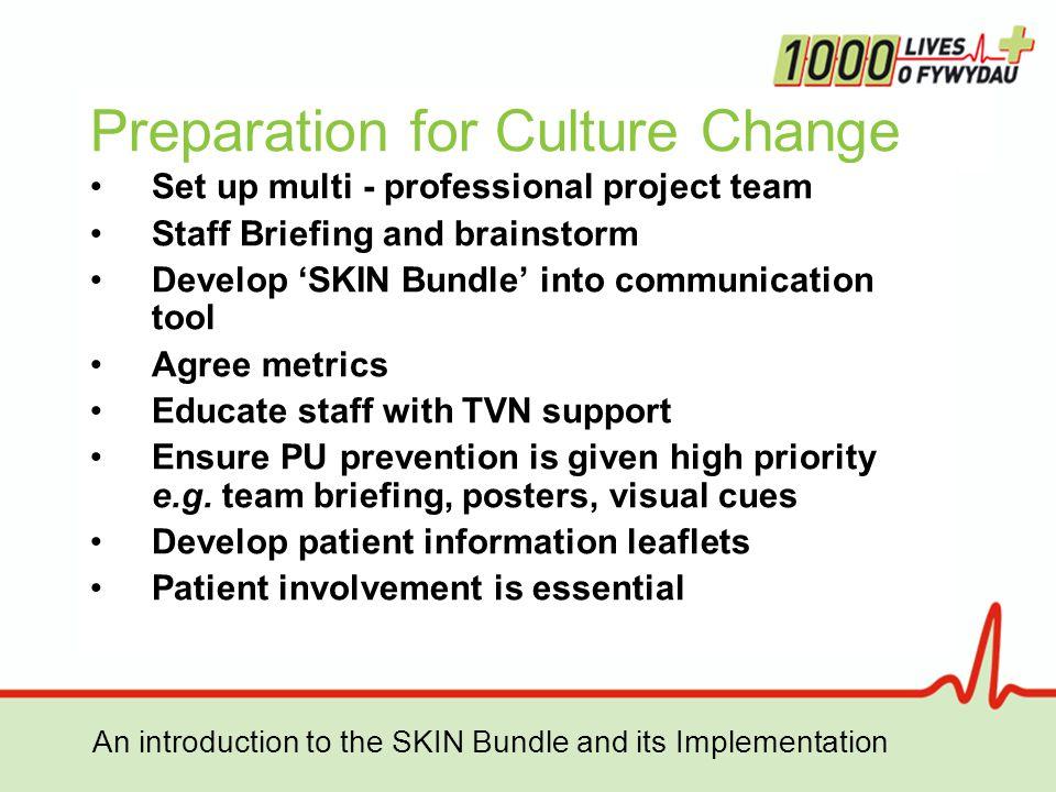 Preparation for Culture Change
