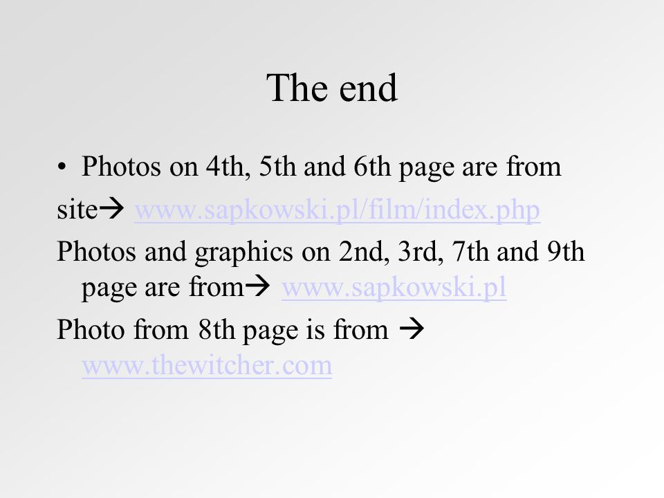 The end Photos on 4th, 5th and 6th page are from