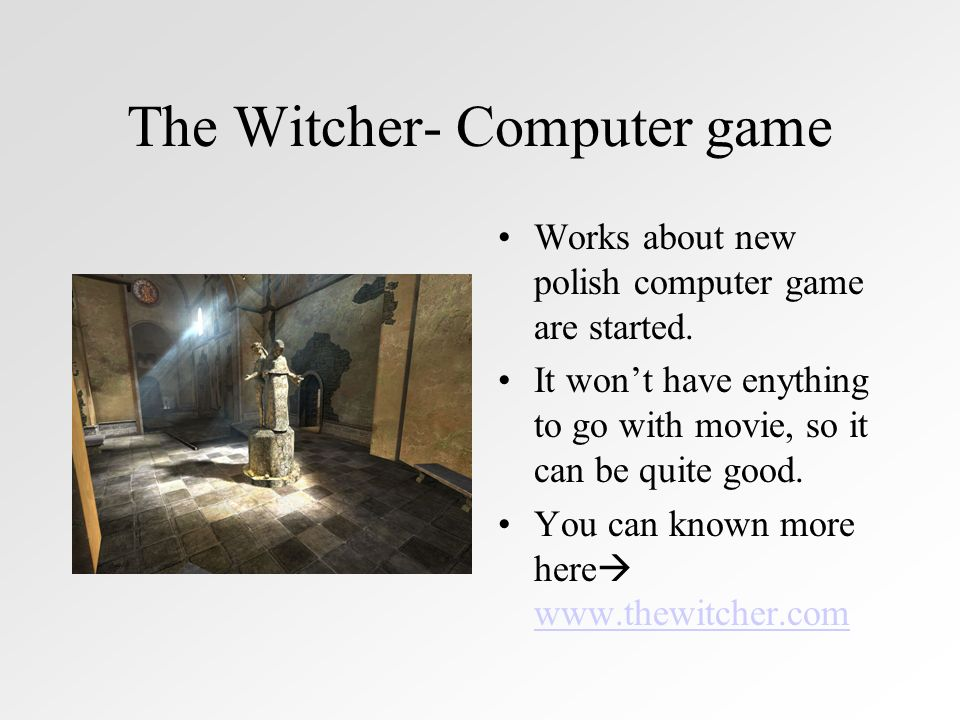 The Witcher- Computer game