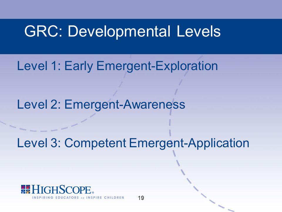 GRC: Developmental Levels