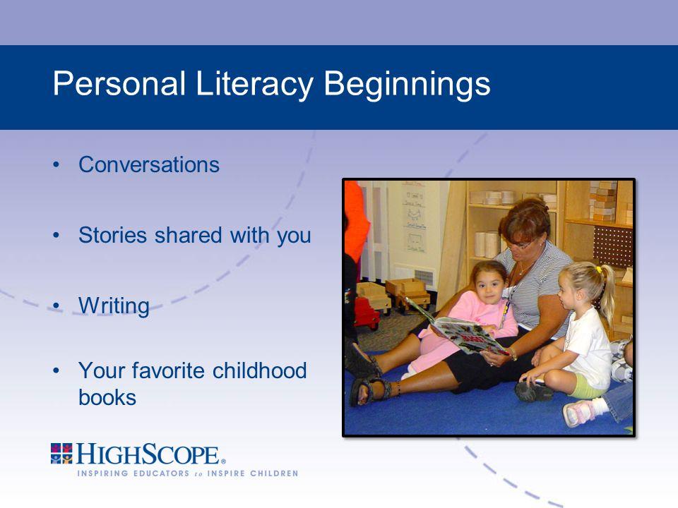 Personal Literacy Beginnings