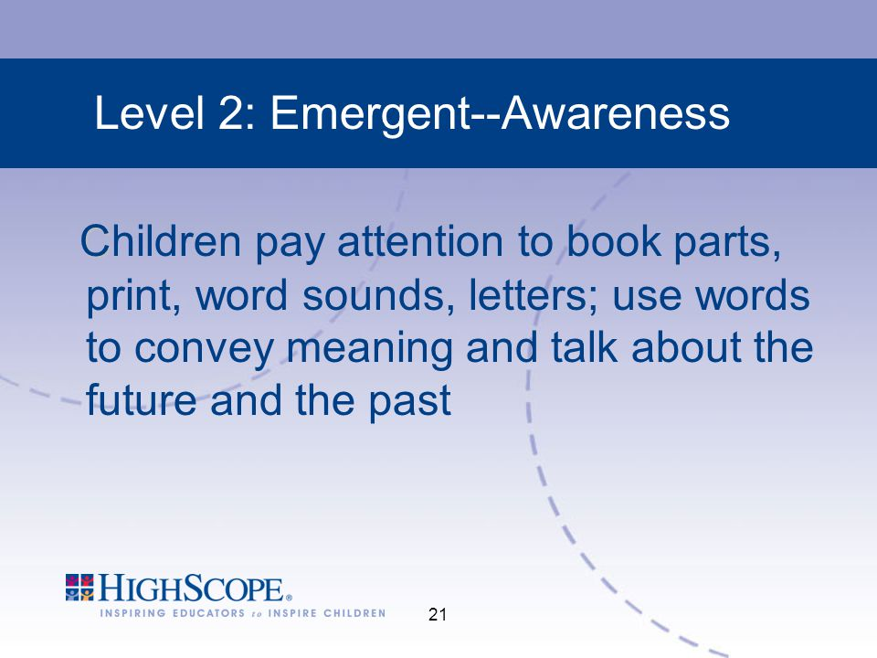 Level 2: Emergent--Awareness