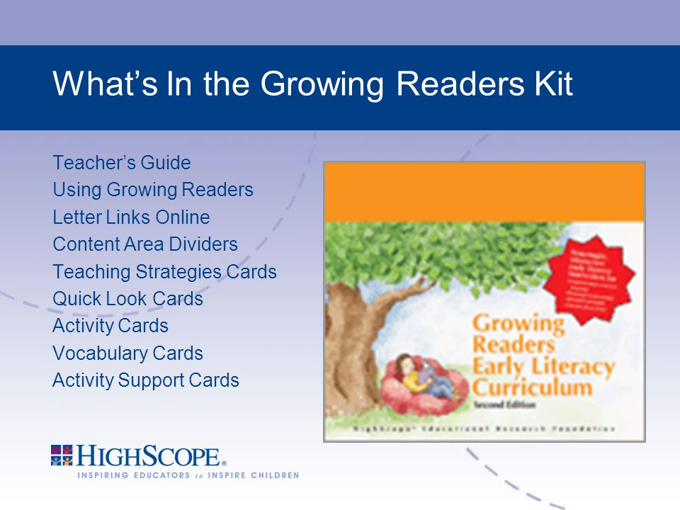 What's In the Growing Readers Kit