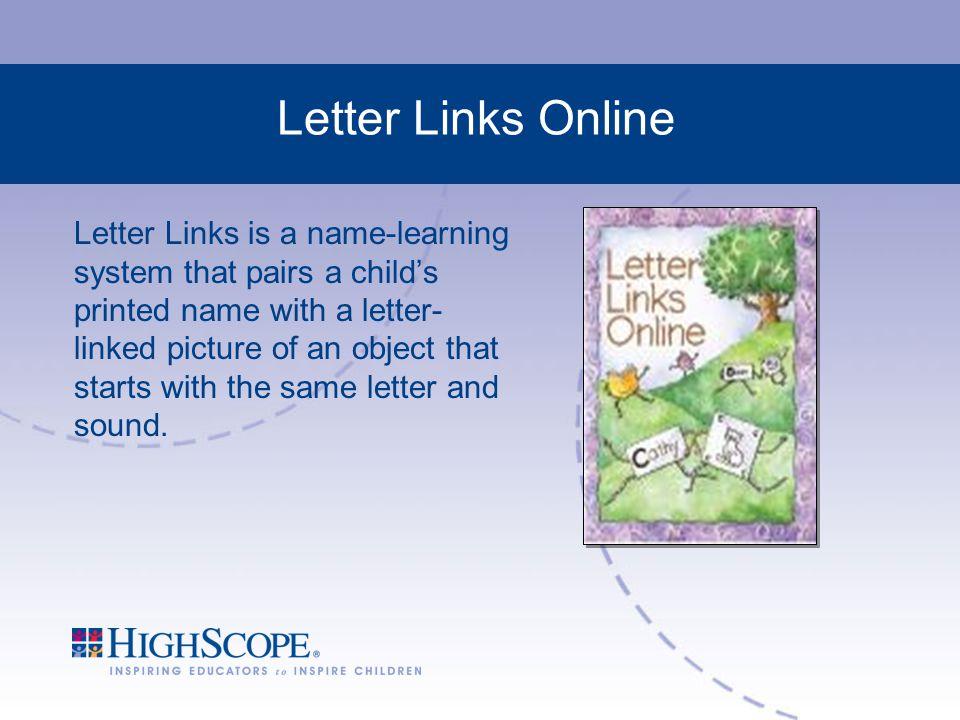 Letter Links Online