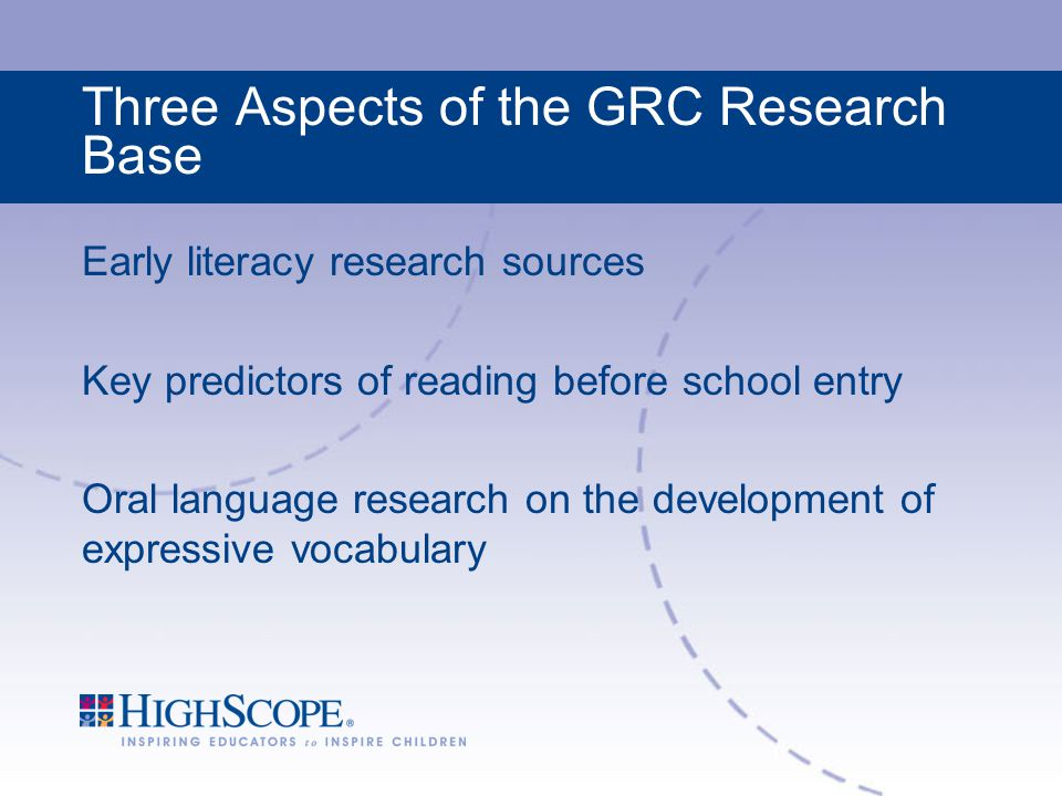 Three Aspects of the GRC Research Base